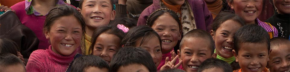 Children at the Vista Project school in Dzachuka, Tibet